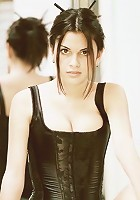 Alexa Model poses in sexy black lingerie