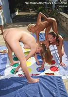 Tropical Girls Playing Twister