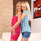 Claudia and Lenna - Gorgeous teens eat out pink pussies