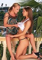 Katerina and Klara - Teen beauties lap twats and butts