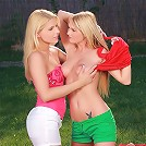 Rikki and Antonia - Angelic blondes strip and finger
