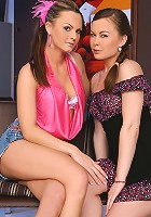 Salma and  Mya - Naked Sluts - Two horny sluts get naked and fuck