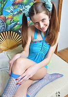 Skinny Girl is naughty and loves to tease