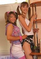 Mariya undresses Lyuba. The girls seem to really want each other!