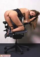 On an Aeron Chair