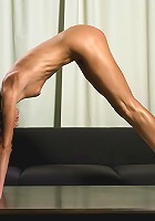Yana in the flesh showing off just how flexible she can be.