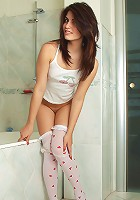 Nubiles.net Isabel - Take sweet peek on Nubile Isabel completely naked in the bathroom with her wet pinkish twat