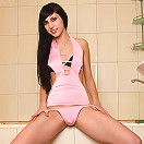 Nubiles.net Galechka - Take a peek at Nubile Galechka as she cleans her nude body in the shower