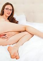Nubiles.net Aria Amor - Glamorous babe Aria Amor masturbates with a purple dildo