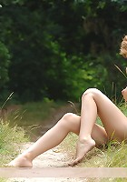Zemani.com Lima - Beautiful blond Lima with nice young body poses nude in a forest.