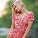 Zemani.com Ira - Nice blond in the pink blouse and pink panties takes her clothes off and poses on the river beach.